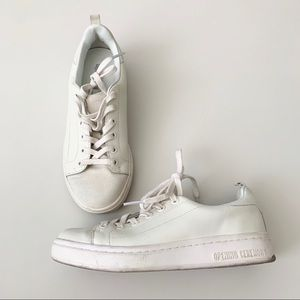 OPENING CEREMONY Off White Leather Sneaker Size 36